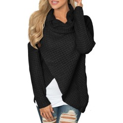 Women knitted pullovers Long Sleeve o neck Solid girl Pullover Tops Blouse Shirt pullovers winter women clothing